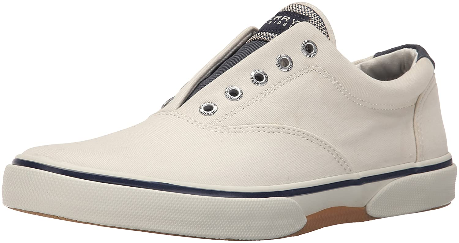 Top-Sider Mens Halyard LL CVO Ecru Sneaker 11.5 M (D) Sperry Top-Sider