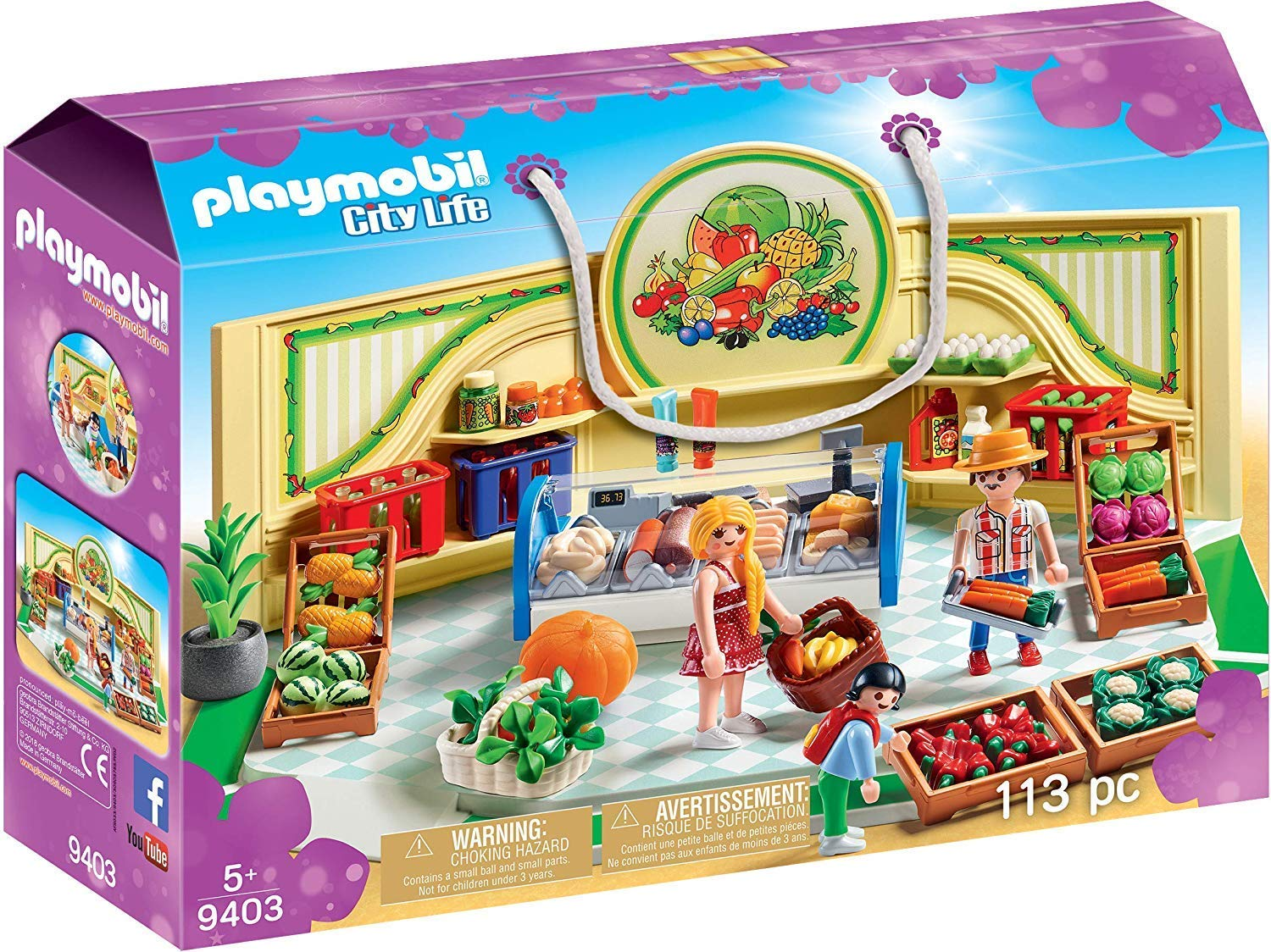 Amazon.com: Playmobil City Life Grocery Shop with Shoppers ...
