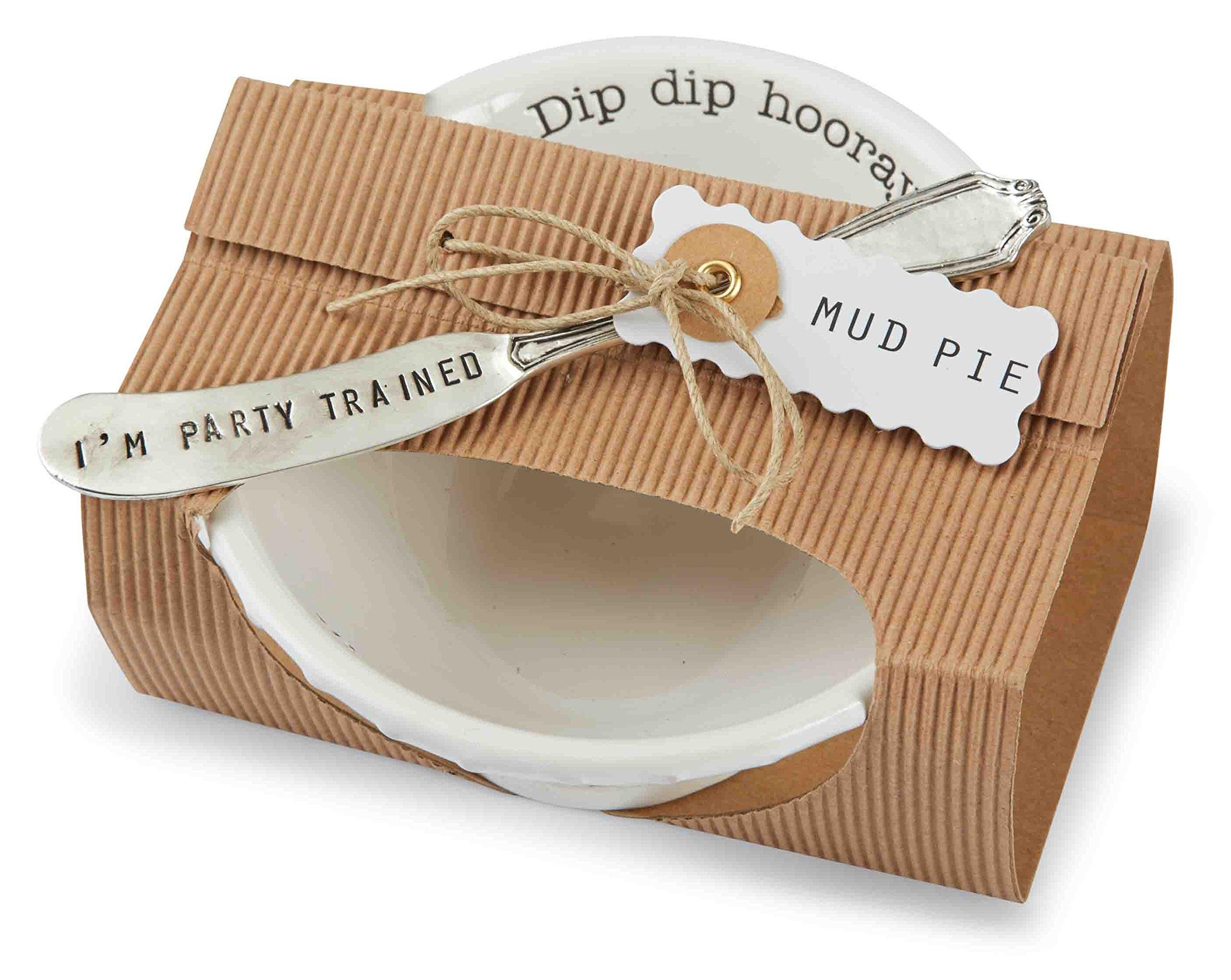Mud Pie Circa Hooray Dip Set, White