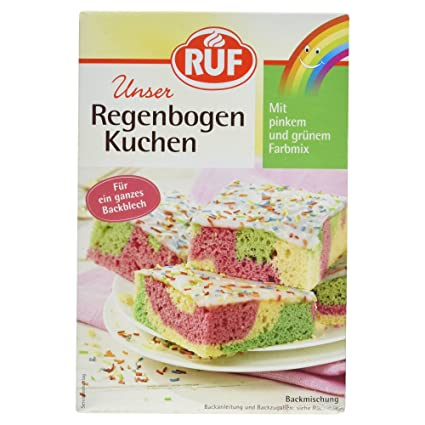 Ruf Regenbogen Kuchen Backmischung 840 G Amazon De Lebensmittel