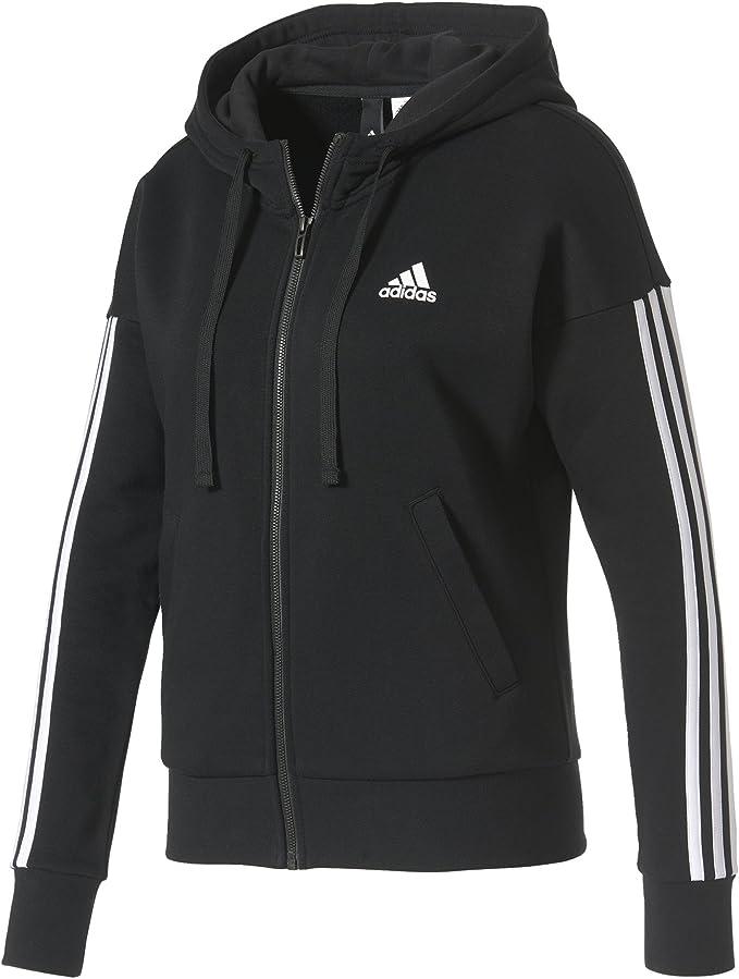 adidas Damen Essentials 3 Stripes Full Zip Hoodied Jacke