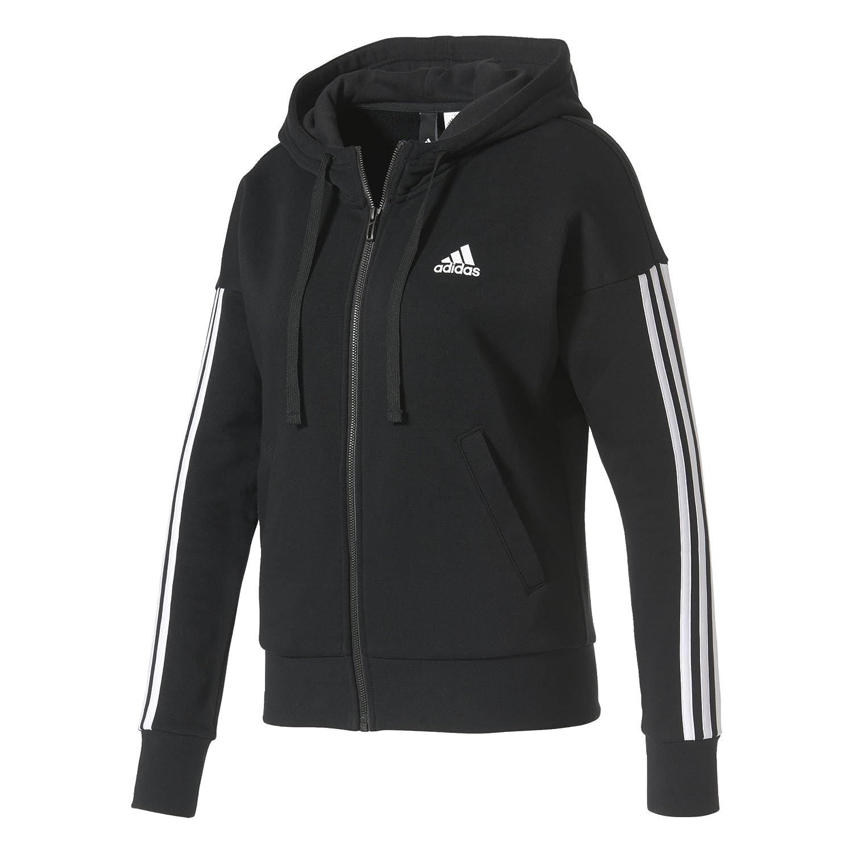 adidas Women s Essentials 3-Stripes Full Zip Hd Jacket  Amazon.co.uk ... ca0a3e8f7