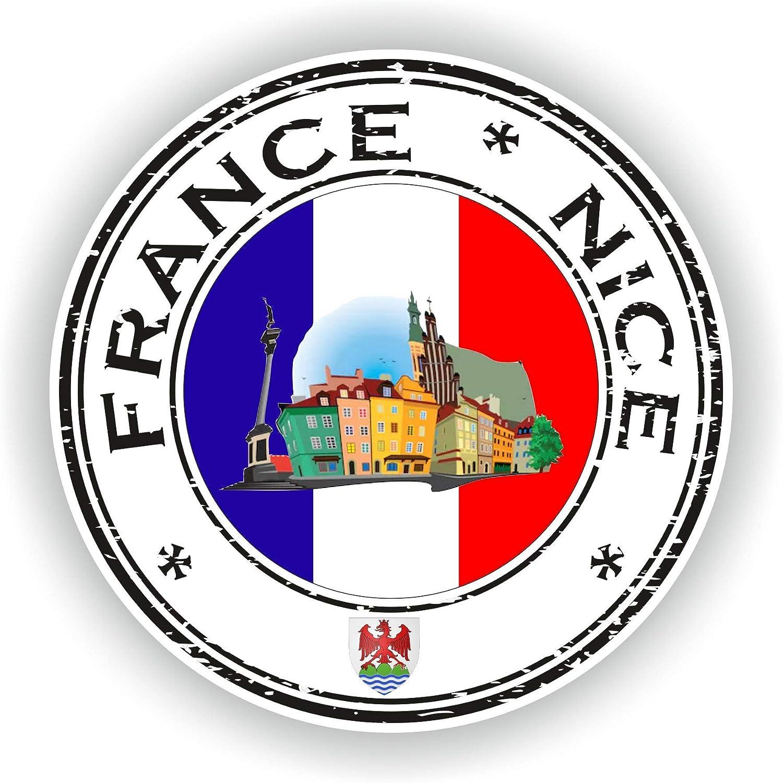 Tiukiu France Nice Vinyl Sticker Round Flag for Laptop Book Fridge Guitar Motorcycle Helmet Toolbox Door Luggage Cases