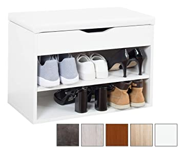 Ricoo Meuble De Rangement Pour Chaussure Wm032 W W Banc Armoire Avec