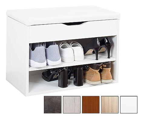 Ricoo Banc Armoire Meuble De Rangement Pour Chaussure Wm032 W W Avec