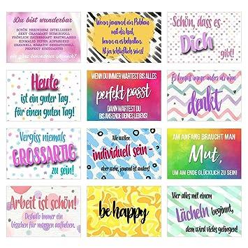 set 12 postkarten mit spruchen karten mit spruch geschenkidee dekoidee liebe