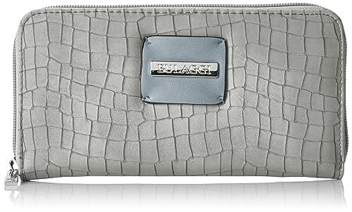 Bulaggi Briggs Wallet Zip Around, Porte-monnaie femmeGris (Grau), 2x11x20 cm (B x H x T)