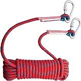 登山用 ロープ クライミングロープ カラビナ付 10mm 30M 高強度 耐荷重1200kg カラビナ付き