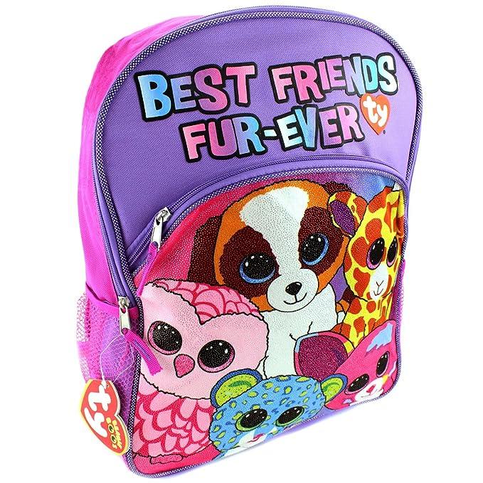 Ty Beanie Boo Backpack Girls Backpack Canvas 16 School Kids Backpacks for  Girls 6129ed824a7