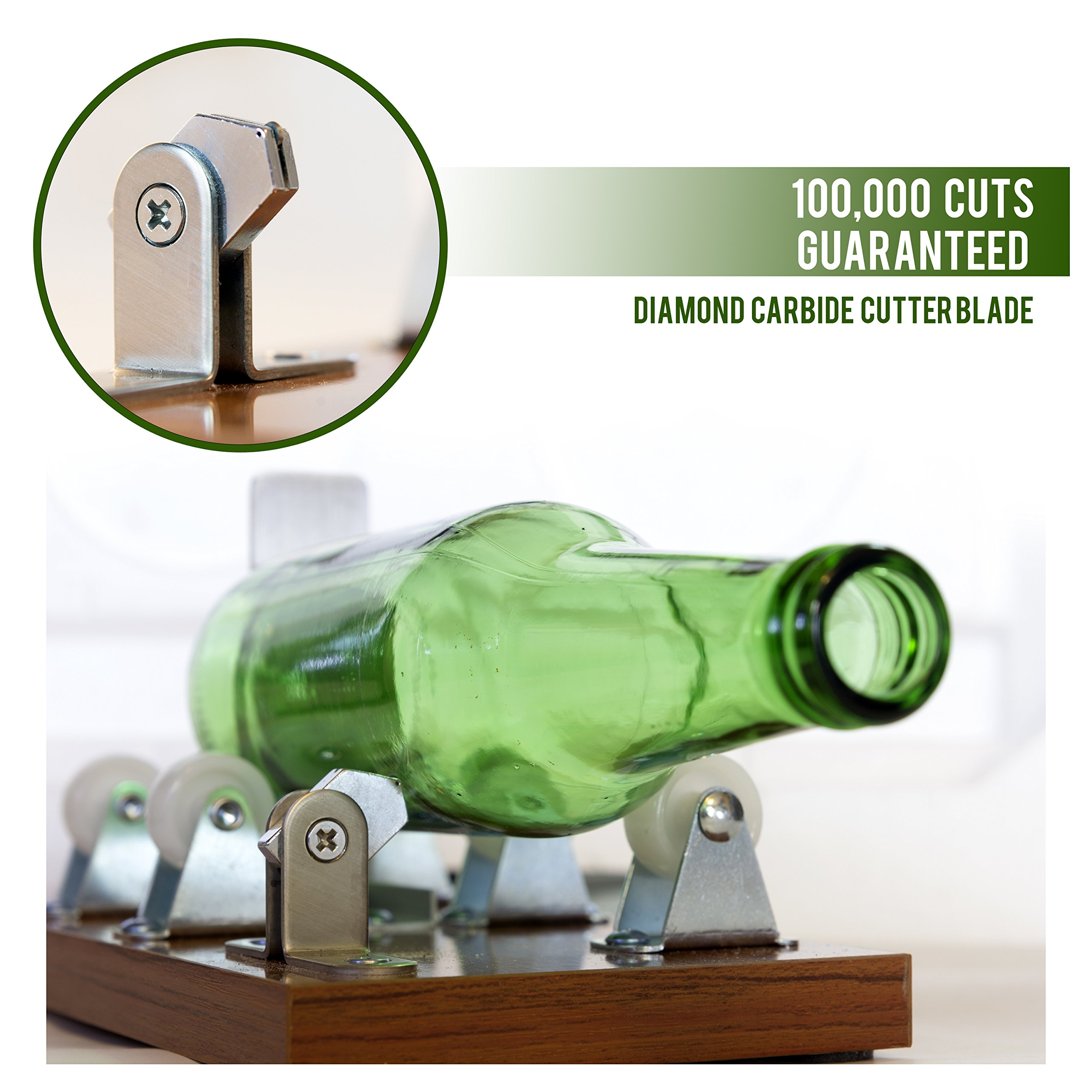 Glass Cutter - Glass Bottle Cutter - DIY Crafts for Glass Bottles - Extra Cutting Wheel Included!