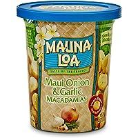 Mauna Loa Dry Roasted Macadamia Nuts (Maui Onion and Garlic 4oz Single Cup)