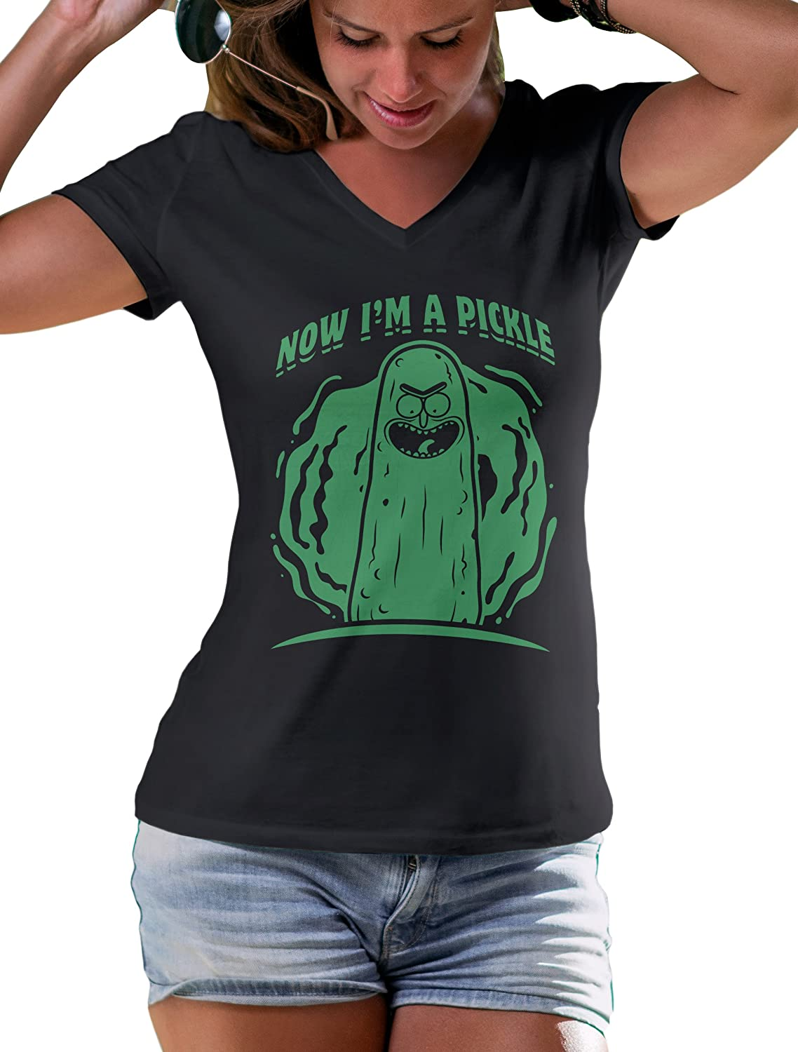 Rick and Morty Women`s T Shirt Now I'm a Pickle T-Shirt Funny Tee LeRage Shirts