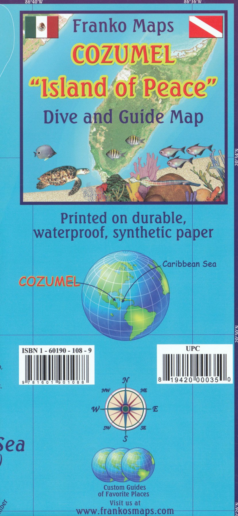 Cozumel (Mexico) 1:95 000 Guide & Dive Map + S.Miguel plan, waterproof FRANKO: Franko: 9789354681264: Amazon.com: Books