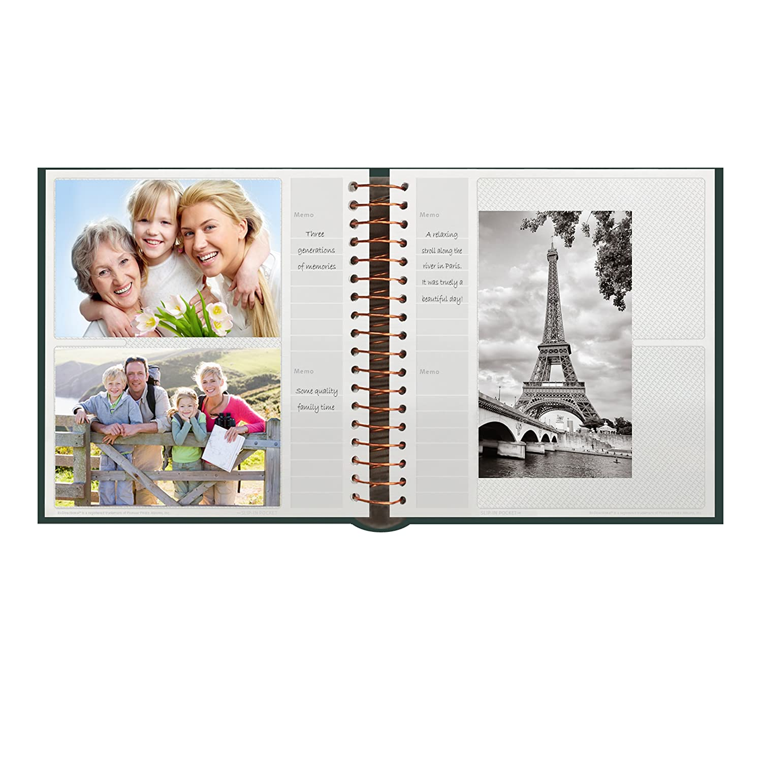 Bay Blue Leatherette with Gold Accents Cover Pioneer Photo Albums 200-Pocket Coil Bound Photo Album for 4 by 6-Inch Prints