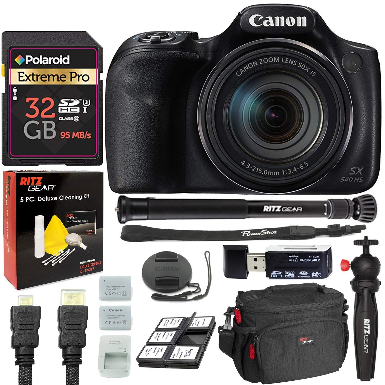 Cámara Digital Canon PowerShot SX540 con trípode para ...