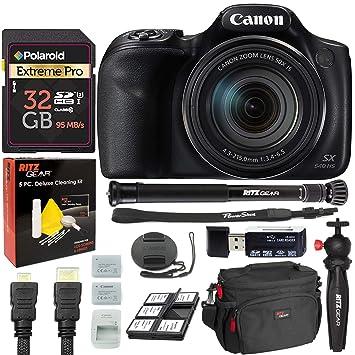 Cámara Digital Canon PowerShot SX540 con trípode para Tableta ...