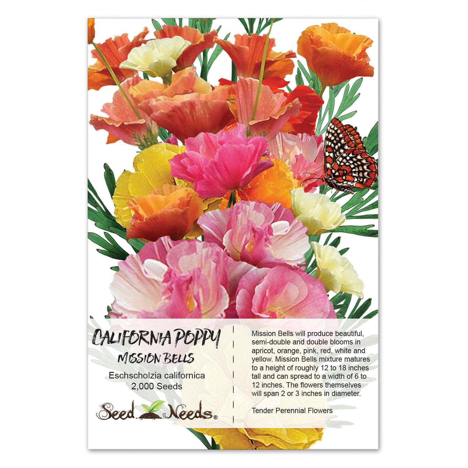 Amazon Package Of 2 000 Seeds Mission Bells California Poppy