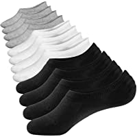 Closemate No Show Socks 6 Pairs Non Slip Cotton Low Cut Invisible Casual Socks for Men & Women