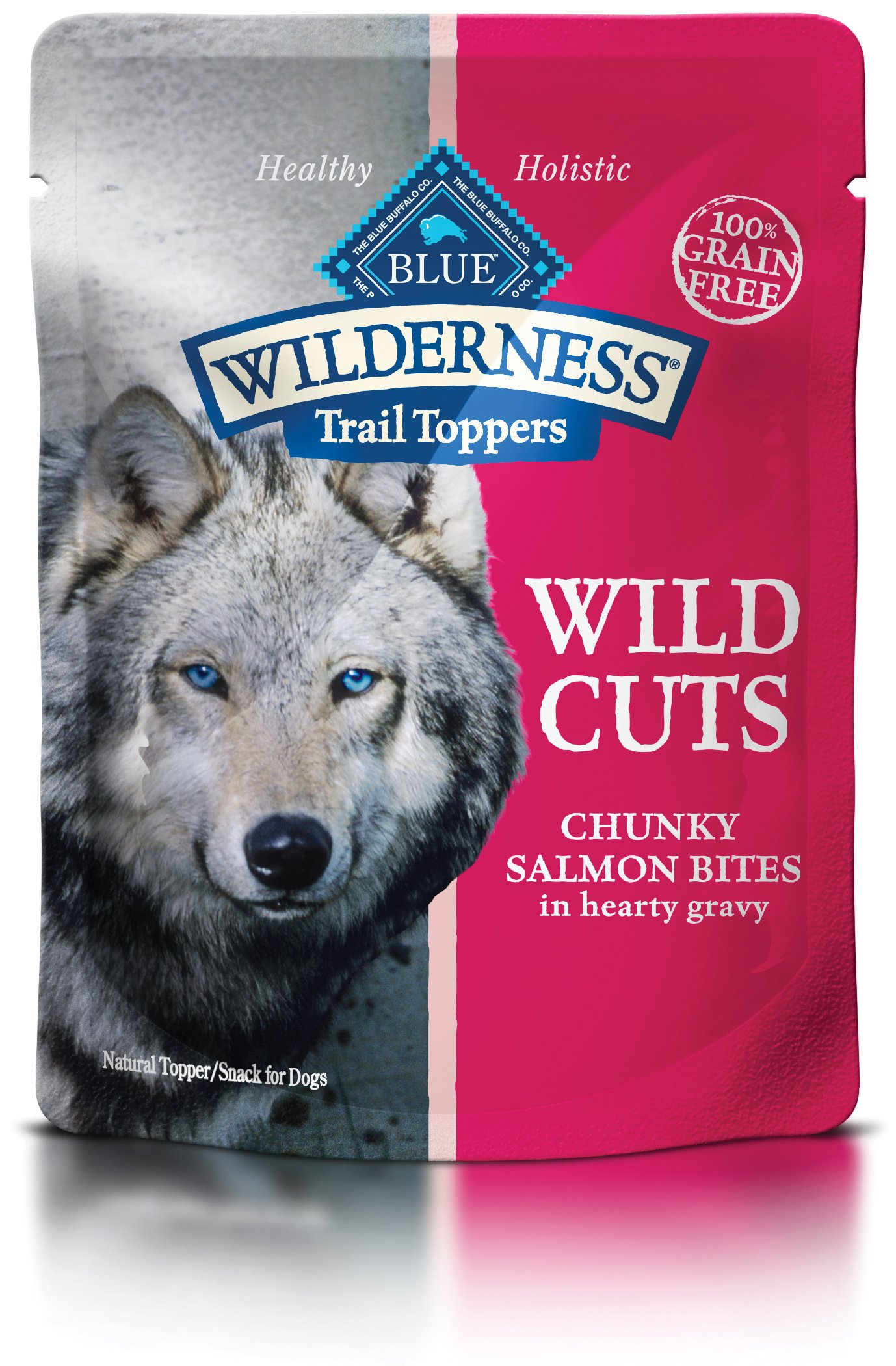 Blue Buffalo Wilderness Trail Toppers Wild Cuts High Protein Grain Free, Natural Wet Dog Food, Chunky Salmon Bites In Hearty Gravy 3-Oz Pouch (Pack Of 24) by BLUE BUFFALO