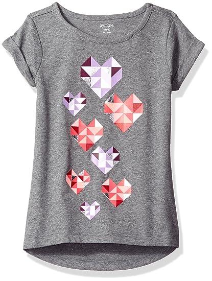 8890f83f Amazon.com: Gymboree Girls' Big Basic Graphic Tee, Dolphin Grey Heather XS:  Clothing