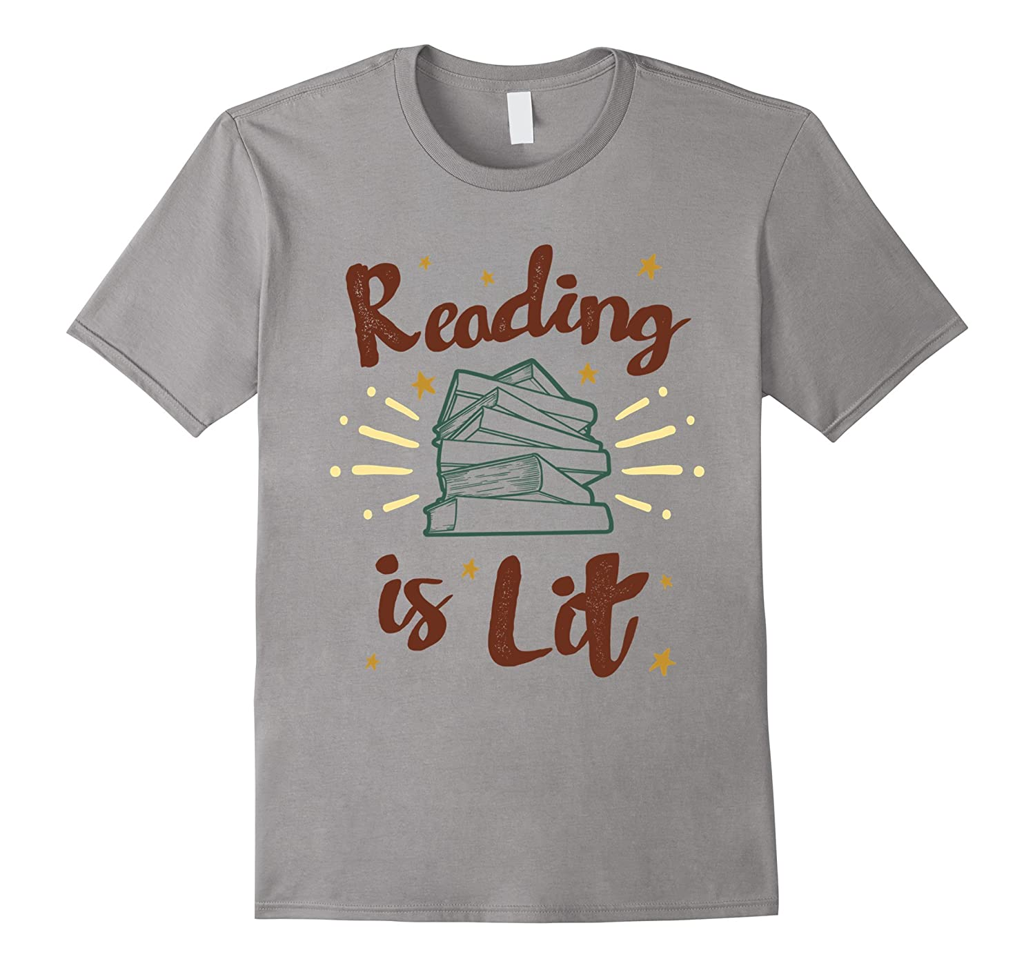 Reading is Lit - English Literacy T-Shirt, Fancy Design-ANZ