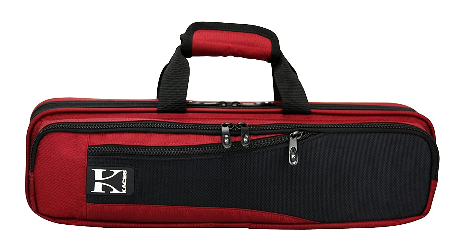 Kaces KBF-RFL4 Polyfoam Lightweight Flute Case, Red KBFR-FL4