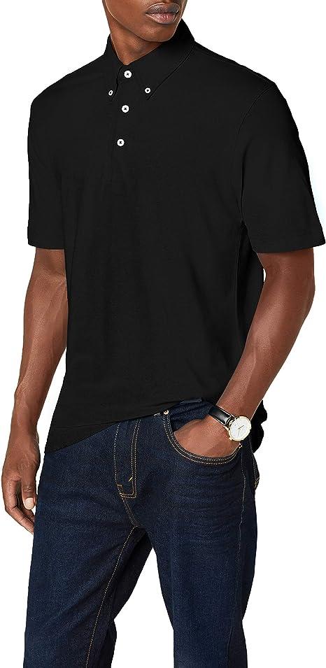 James /& Nicholson Mens Plain Button Down Short Sleeve Polo Shirt X-Large Blue