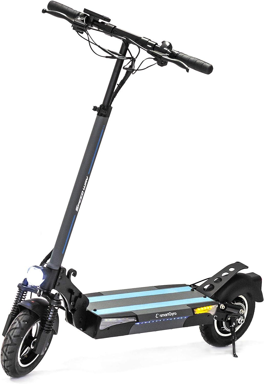 SmartGyro Xtreme SpeedWay V2.0 - Patinete Eléctrico de 800 W con 3 marchas, Batería 13.000 mAh 48V, Doble suspensión reforzada, Frenos de disco, 4 intermitentes, Scooter, potente