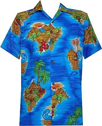 Camisa hawaiana para hombre con estampado de flores, playa, aloha: Amazon.es: Ropa y accesorios