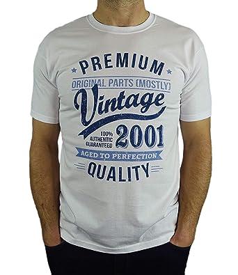 c85db869c477 2001 Vintage Year - Aged to Perfection - 18 Ans Anniversaire Homme Cadeaux T -Shirt  Amazon.fr  Vêtements et accessoires
