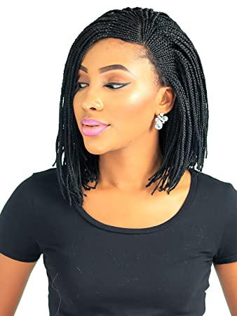 Amazon Com Cornrow V Side Part Braid Wig Color 1 12 Inches Beauty