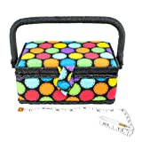 SINGER 07272 Polka Dot Small Sewing Basket with
