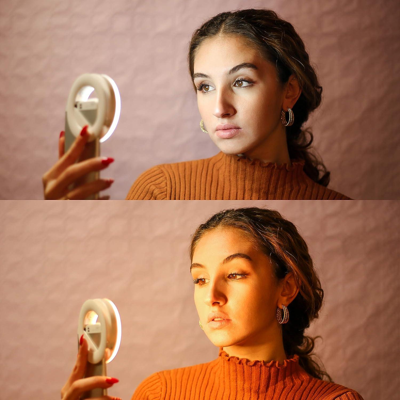 Live Stream recargable smartphone flash y v/ídeo conferencias Selfie Ring Light New 2021 Luxtara c/ámara de ordenador port/átil Anillo de luz con 3 niveles de luminosidad LED