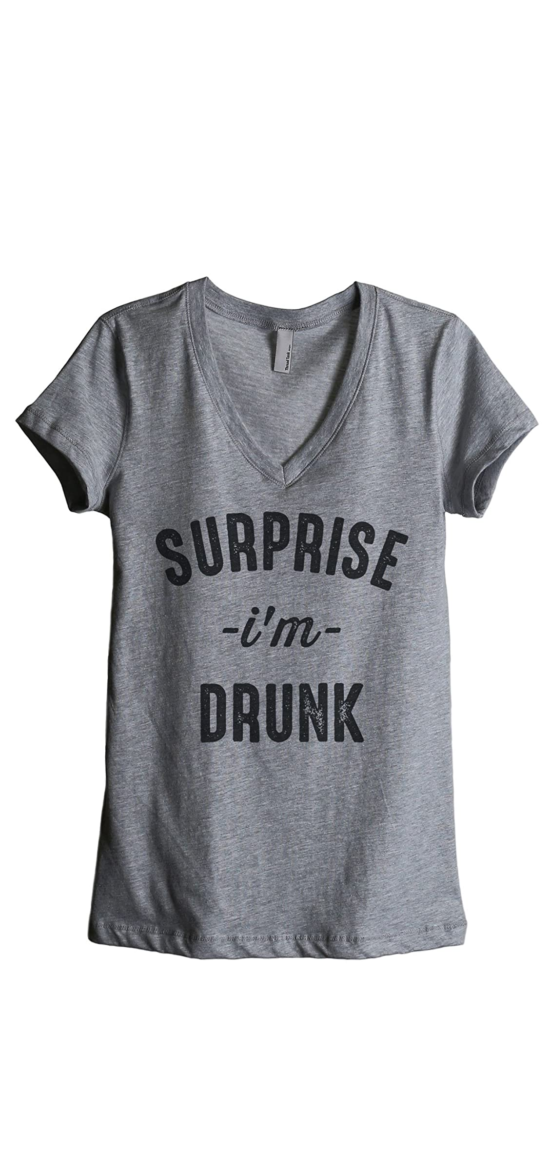 Surprise I'm Drunk Women's Relaxed V-neck T-shirt