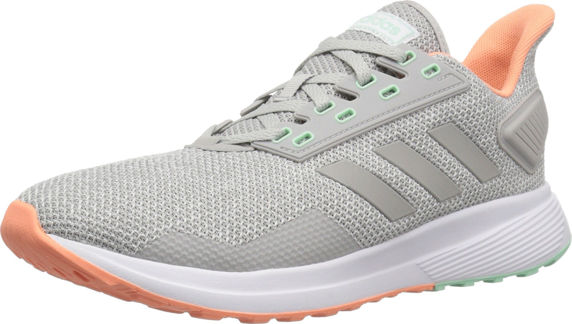 adidas Women's Duramo 9 Running Shoe Grey/Chalk Coral, 9 M US by adidas