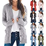 Womens Cardigans Plus Size Cardigan Sweaters Open Front Chunky Knit Cardigan Lightweight Long Duster Cardigan