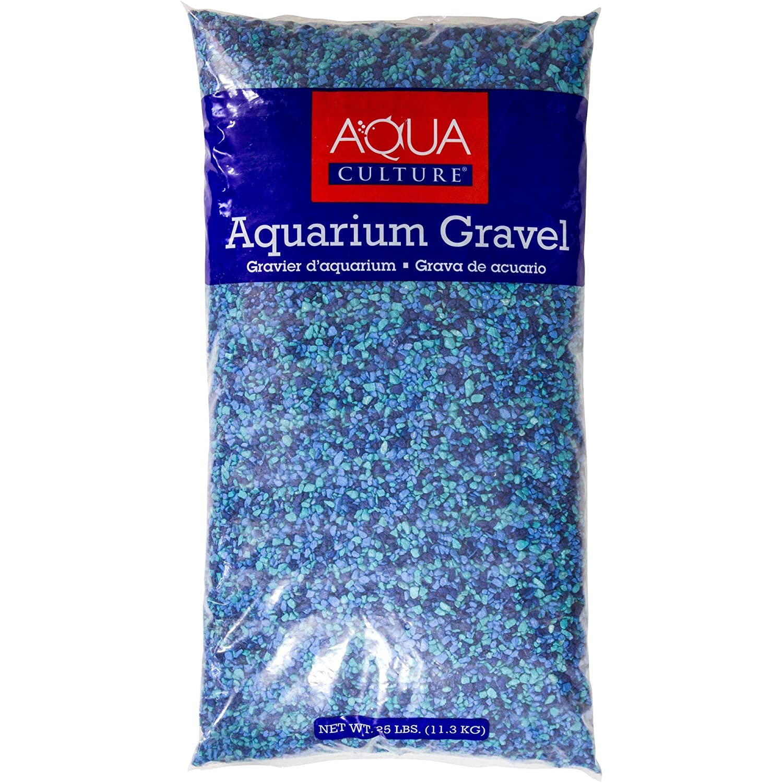 Aqua文化Caribbean水族館砂利、25 lb B079ZWB31X