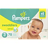 Pampers Swaddlers Disposable Baby Diapers Size 3, Super Pack, 78 Count