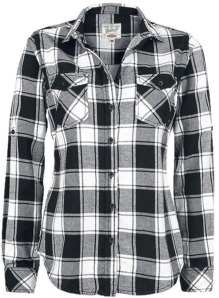97b48d185 Brandit Camisa a Cuadros de Franela Amy Camisa Mujer negro-blanco XL:  Amazon.es: Ropa y accesorios