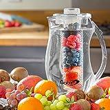 Babz Brassard 2,7 L fruits Pichet Carafe avec bâton de glace-à froid de boissons et la réalisation de savoureuses Infusions de fruits