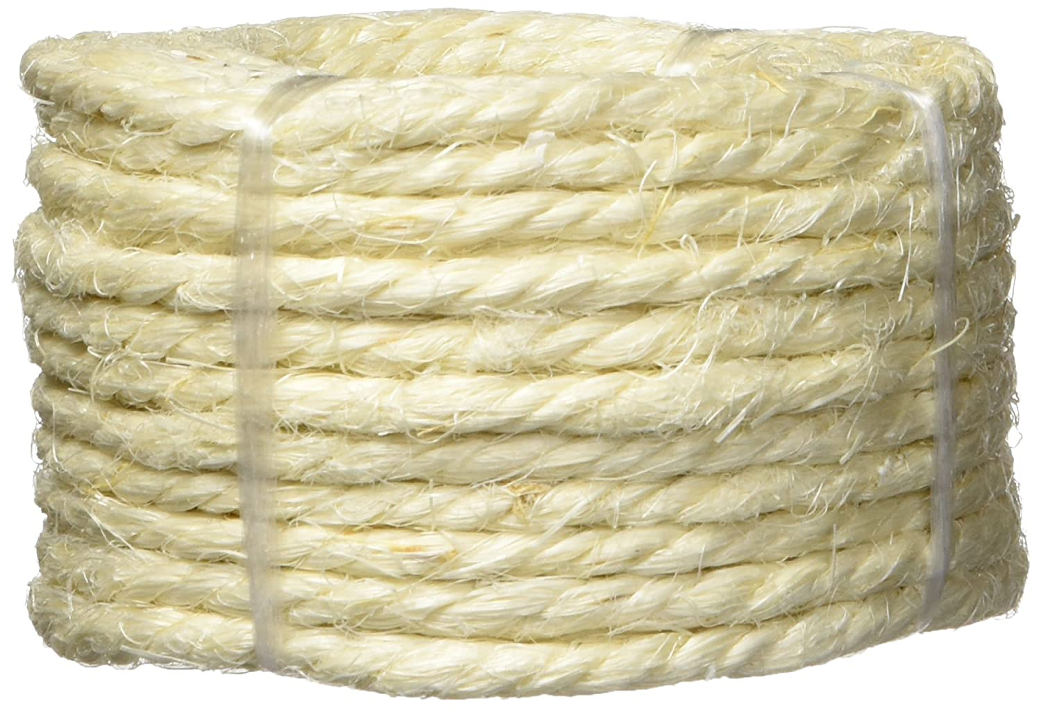 RoadPro RP1302 1//4 x 50 3-Strand Twisted Sisal Rope