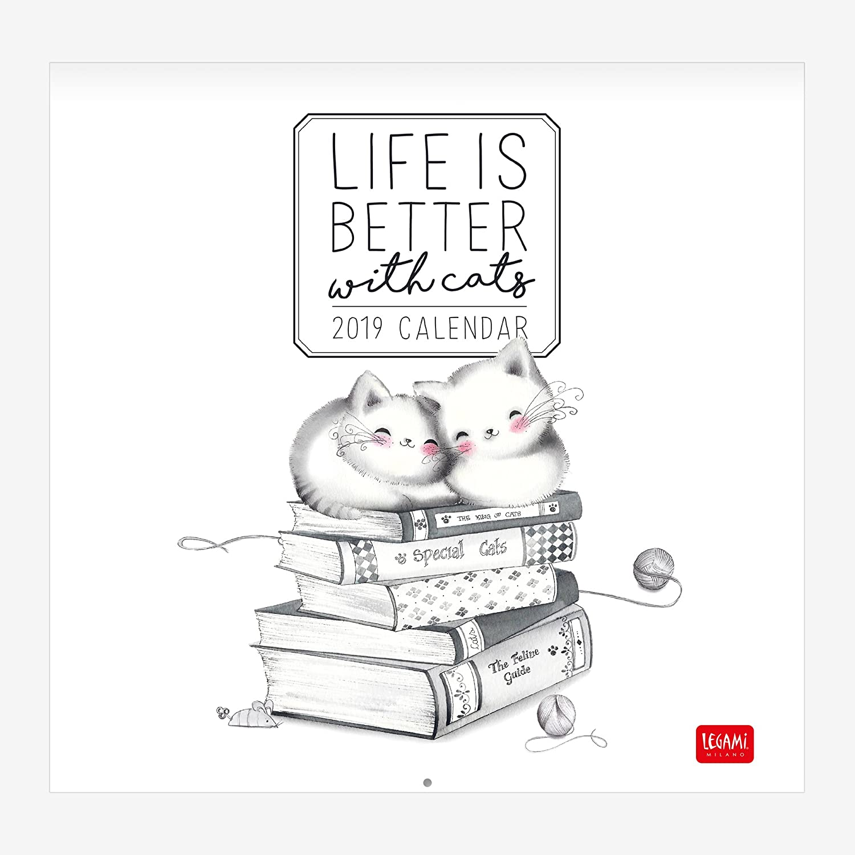 Legami Calendario Da Parete 2019, Dimensioni 30 X 29 Cm-My Sketchy Cats 8052783610428
