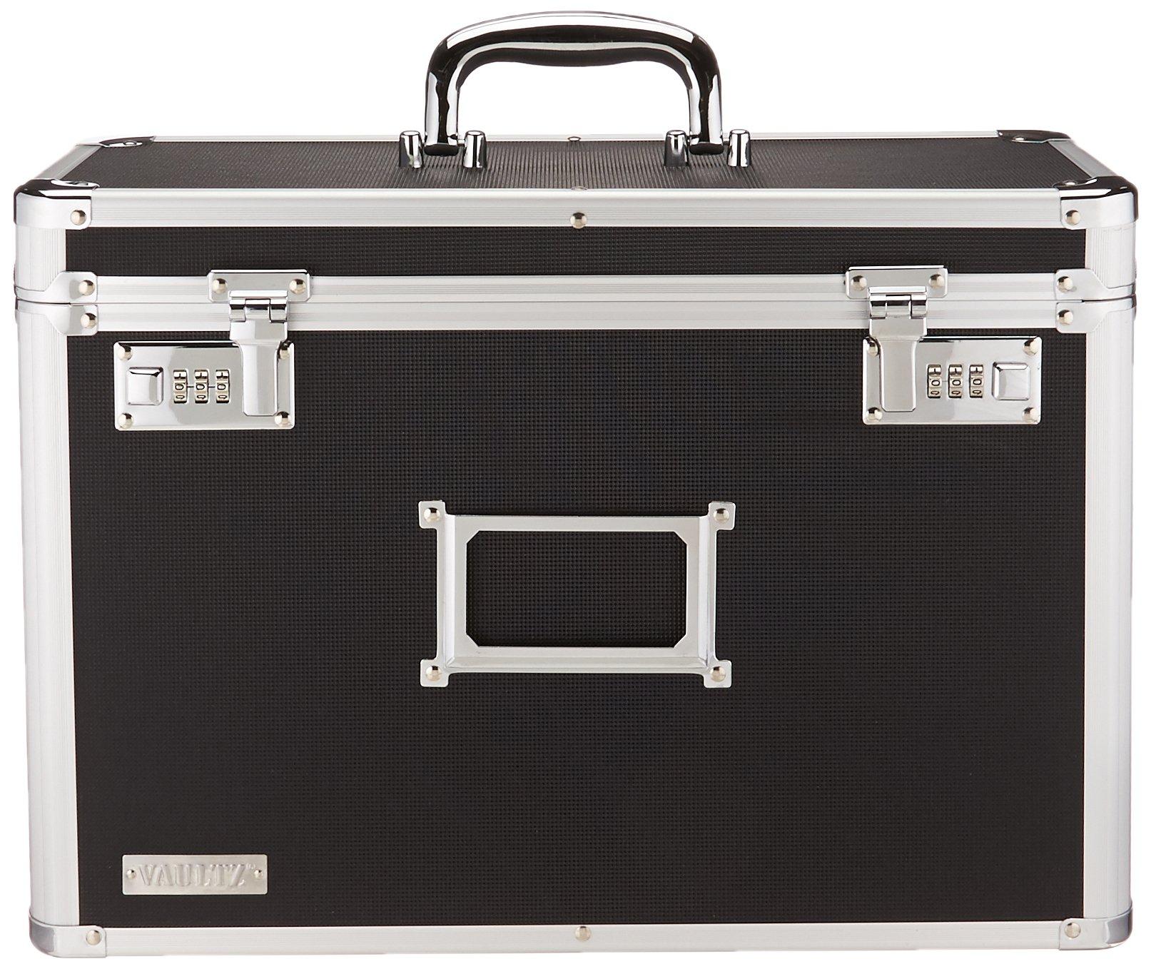 Vaultz Locking Personal File Organizer Tote Box, Legal Size, Black (VZ01189) by Vaultz