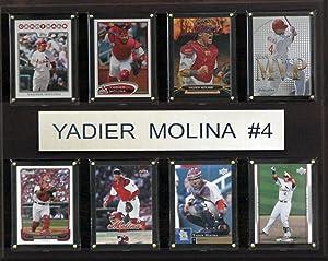 MLB St. Louis Cardinals Yadier Molina 8-Card Plaque, 12 x 15-Inch