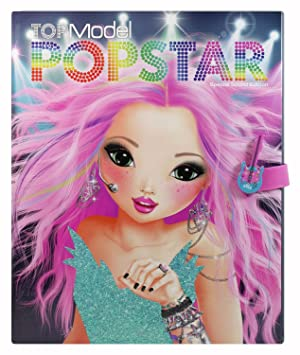 depesche top model colouring book 7963 popstar with sound special