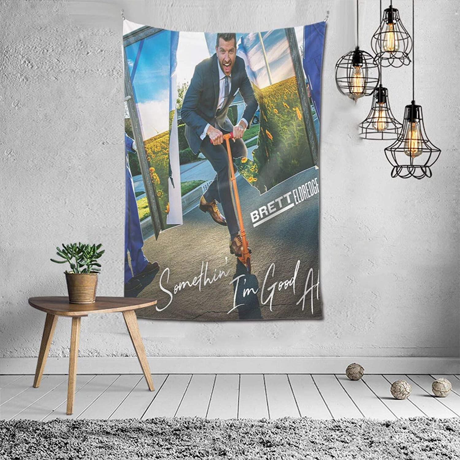 Brett Eldredge Tapestry Art Wall Hanging Bedding Wall Tapestry Decoration for Living Room Bedroom Dorm Home Decor Funny Gifts Tapestry 60x40 inch