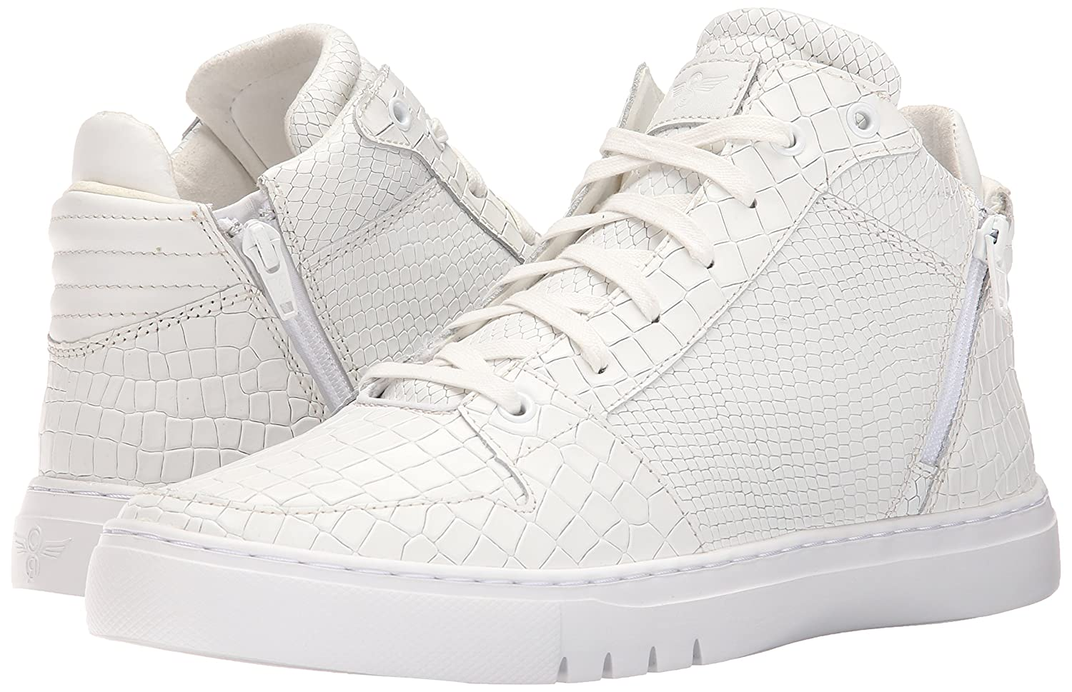 Creative Recreation Men's adonis mid mid adonis Fashion Sneaker 13 M US|White Crocodile Snake B015GIJ2L8 031100