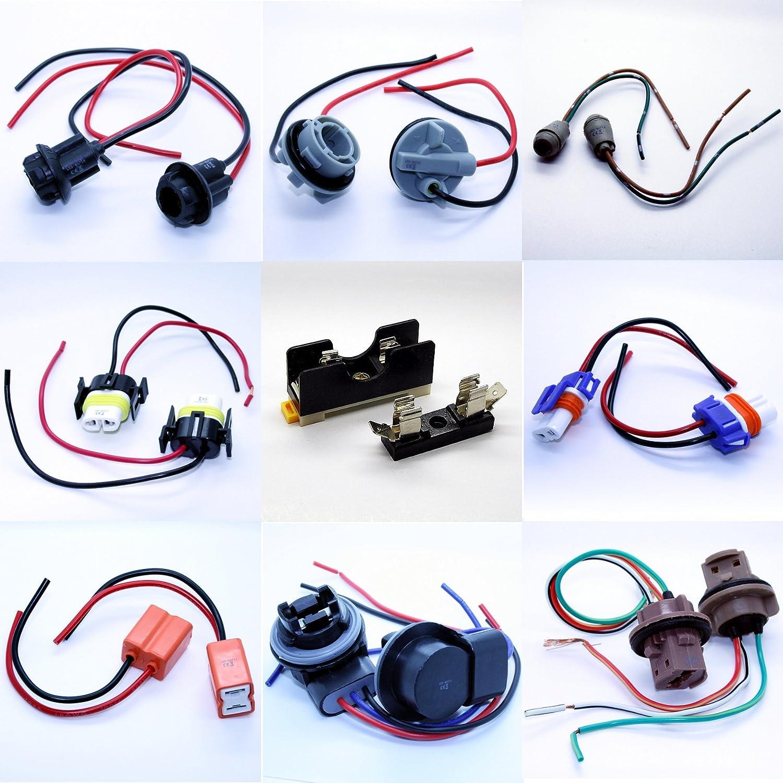 LED-Mafia LAMPENFASSUNG T5 T10 HB3 HB4 H7 H8 H11 7440 7443 Fassung Stecker Kabel 2X 7440 nicht zutreffend