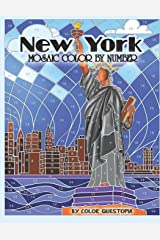 New York Mosaic Color By Number: Coloring Book for Adults (Fun Adult Color By Number Coloring) Paperback