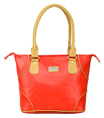 Sbags Ladies Shoulder Bags Red Latest Fashionable Pu Leather Fancy